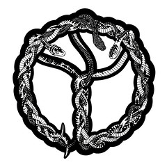 Eternal Peace (Justin Carlisle-Angrand) Tags: family love illustration ink peace time trinity harmony psychedelic snakes braid ontask