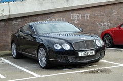 A Bentley Continental GT spotted in Sunderland with what is no doubt, an illegal number plate (NightSnapper) Tags: uk greatbritain england cars unitedkingdom ps panasonic pointandshoot pointshoot compact sunderland fastcars tynewear compactcamera expensivecars luxurycars bentleycontinentalgt northeastengland againstthelaw thoburn illegalnumberplate tz8 veryexpensivecars panasonictz8 nightsnapper wrongnumberplate th08urn