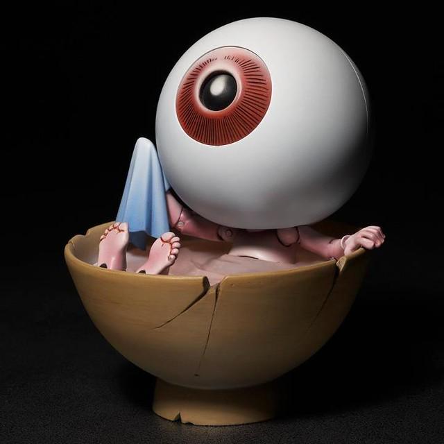 海洋堂山口式可動輪轉鬼太郎系列眼球老爹