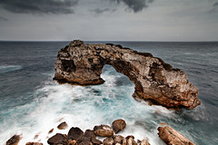 Es Pontas rock, Ses Salines, Mallorca (Samuel Berthelot) Tags: ocean longexposure sea seascape clouds canon spain rocks ses filter lee nd buy getty 5d sell mallorca 1740 rochers majorca salines majorque balares