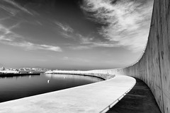 curves I (green.pit) Tags: shadow sky blackandwhite bw espaa blancoynegro monochrome lines wall architecture clouds port ed puerto coast blackwhite spain nikon europa europe north perspective bn espana sw 28 nikkor dslr curve fx schwarzweiss laredo hafen ff f28 spanien afs cantabria 2012 d800 128 247028 2470mm 2470 kantabrien 128g vollformat nikond800 pitgreenwood