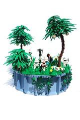 Order 66 (Legopard) Tags: 3 star order battle 66 dio wars clone episode diorama barris klon offee
