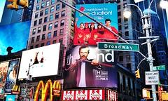 Broadway & 7th Avenue, Times Square (Arutemu) Tags: street city nyc newyorkcity travel urban panorama usa signs ny newyork sign night america evening us neon cityscape view nightscape nightshot dusk manhattan scenic scene nighttime american timessquare citylights nightview scenes nuit hdr nightstreet nuevayork  americain