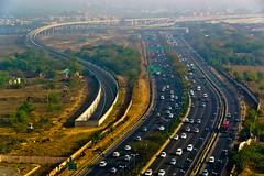 Delhi Skyline (NA.dir) Tags: trip skyline underpass shot delhi aerial april roads travelogue flyovers