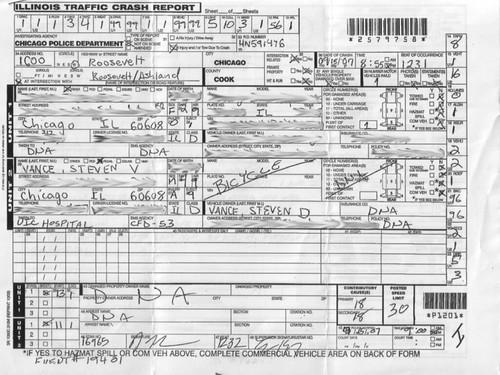 chicago police department illinois traffic crash report
