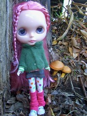 Elvie and the toadstools..