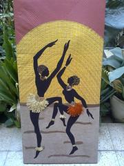 applique wall decor art (art art art and me) Tags: art wall dancing sewing iraq sew canvas baghdad decor applique العراق لوحة رقص فن بغداد خياطة dhuha ضحى تنزيل الكاتب