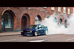 "The Quest to Break ""10"" (kielan prince) Tags: blue canon sweden smoke turbo bmw burnout m3 e30 m50 35l t2i stanceworks"