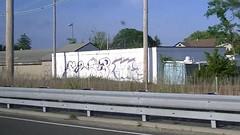 Flip, Sol, Os (NJphotograffer) Tags: new railroad building sol graffiti nj rail flip jersey graff tbs trackside