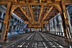 The 'L', S Wells St, Chicago (Mike Hume) Tags: chicago illinois cta l hdr elevatedrailway