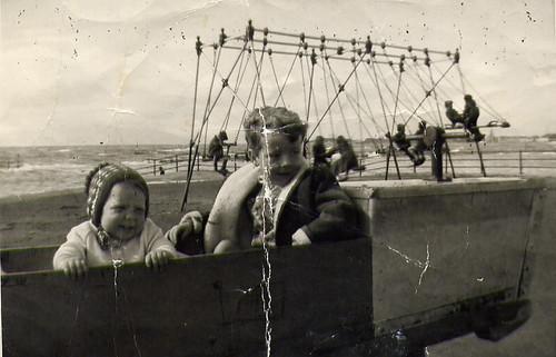 Christine at swings Ayr 1960's