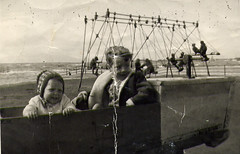 Image titled Christine at swings Ayr 1960's
