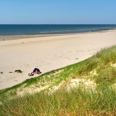Relaxing in the summer sun on the Dutch coast (Bn) Tags: blue houses sea sky cloud sun seagulls holland green beach nature water netherlands beauty dutch grass walking landscape geotagged spring sand topf50 day wind hiking dunes north noordzee sunny natura huts clear coastal strip coastline protection luxury tranquil castricum sustainable seagul cottages seaguls noord undulating kust wijkaanzee bakkum sheltered zeemeeuw strandhuisjes 50faves noordhollands duinreservaat bakkumaanzee plukdedag hieraandekust ikwilterugnaardekust geo:lon=4601297 geo:lat=52536795