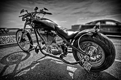 Custom made.... (James Waghorn) Tags: beach bike nikon ironcross sigma hastings ultrawide hdr lightroom custombike meanmachine sigma1020 d5000 mygearandmepremium blinkagain bestofblinkwinners blinksuperstars