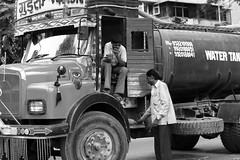 Cool truck (LiquidXKnives) Tags: bw india dogs kids puppy photography poorpeople