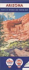 Arizona Road Map (RazorBoy2019) Tags: arizona paper ephemera chevron roadmap