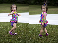 Addison at the slip n slide (kaylarandolphphoto) Tags:
