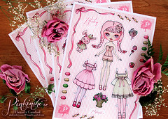 Pinkinshire Paper Doll Collaboration (Happily Candied) Tags: pink roses art love illustration work project fun drawing release cupcake sheet launch lollipop a4 product item paperdoll collaboration facebook macaron flowerbaskets hardcandy happilycandied ribonita blythecon2012 pinkinshire roslinpinkinshire