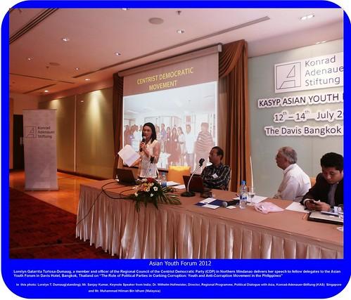 CDP member attends Asian Youth Forum in Bangkok