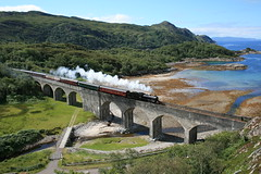 k1 62005 with The Jacobite at Loch Nan Uamh Viaduct (60044) Tags: