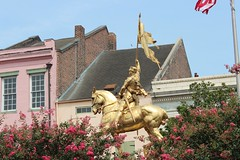 Joan De Arc (the_dude771) Tags: ocean street new city trees light sky food moon house signs galveston brick water coffee caf grave car sign marie night train french dead mexico dessert louis pier corn orleans louisiana ship texas gulf cross shot cathedral market buried south tomb arc deep joan quarter wreck bourbon dumonde chicory pleasure laveau beignets