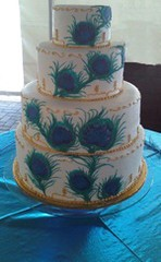 Peacock cake (variationsbakery) Tags: peacockweddingcake variationsbakery