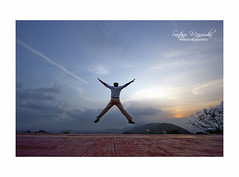 Jump!! (get2shaan) Tags: sunset canon eos evening jump vizag shaan 550d