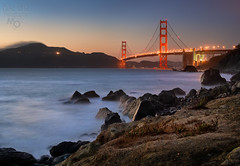 Bridge at Twilight (mikeSF_) Tags: ocean california county bridge blue sunset seascape beach mike matt landscape photography golden photo twilight eyes gate san francisco rocks long exposure baker pacific pentax hawk marin hill cliffs marshall clear civil hour headlands limited sausalito k5 workshops oria fa31 granz httpmikeoriazenfoliocom