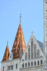 Ornate roof of Matthias Church (larigan.) Tags: roof hungary budapest buda trinitysquare mtystemplom matthiaschurch diamondpattern larigan szenthromsgtr phamilton ornamentaltiles zsolnayfactory pcsporcelainfactory