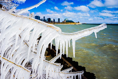 Icy Tree and Chicago Skyline ((Jessica)) Tags: chicago icy lakefront tree icestorm buildings branch lakemichigan lakeshore frozen winter skyline chicagoskyline city pw icicle illinois nature clouds lake unitedstates midwest ice bluesky northerlyislandpark water nex5t alpha adlerplanetarium sony beach 12thstreetbeach wonderland winterwonderland skyscrapers lightroom smugmug
