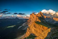Seceda (F!o) Tags: seceda dolomiten dolomites dolomiti sdtirol italy alps alpen berge mountains sunset sonnenuntergang stulrich geisler geislergruppe