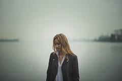 The Quiet One. (juriskokins) Tags: nikon d610 85mm f18 nikkor ff fx full frame mist fog misty foggy docks water beach portrait conceptual darkart fineart moody moodygrams evening twilight goldenhour peaceful tranquil