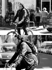 [La Mia Citt][Pedala] (Urca) Tags: milano italia 2016 bicicletta pedalare cicllista ritrattostradale portrait dittico nikondigitale mir bike bicycle biancoenero blackandwhite bn bw 881113