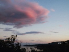 Cotton Candy Cloud (Diana Lynn2) Tags: clouds skyline sunset maine horizon silhouette