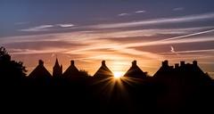 The skyline (marielledevalk) Tags: summer evening thenetherlands dutch holland gorinchem houses silhouette clouds church sunset sun skyline