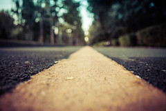 Follow the yellow line (cameliasirli) Tags: bucharest dogwood52 landscape city yellowline simplify dogwoodweek26 52challenge