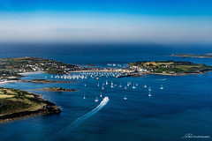 St Mary's (Jae at Wits End) Tags: water island blue boat color downwards lookingdown harbor
