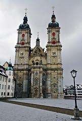 St.Gallen (welenna) Tags: architecture switzerland schwitzerland swiss sity stadt kirche winter grau stgallen