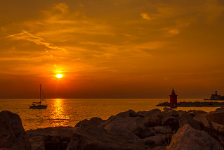 zonsondergang in Piran