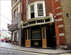 Two Chairmen Pub`Closed Down... (roll the dice) Tags: london westminster sw1 westend trafalgarsquare boozer closed vanished sad mad drinking beer ale wine uk art classic architecture urban england gone fullers sign windows flats canon tourism londonist pub publichouse wall pint