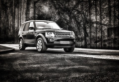 New Ride (Caleb4ever) Tags: caleb4ever car vehicle black blackandwhite blackandwhiteimage hdr landrover discovery trees forest newride ride new newcar 4x4 4wheeldrive offroad