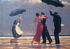 The Singing Butler (pefkosmad) Tags: singingbutler jackvettriano art painting scottish contemporary modern popular jigsaw puzzle ravensburger figures people beach umbrellas man woman dancing maid butler