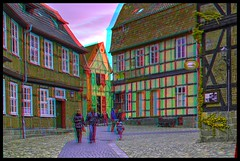 Historic district of Quedlinburg 3-D / Anaglyph / Stereoscopy / HDR / Raw (Stereotron) Tags: europe germany sachsenanhalt saxonyanhalt harz mountains gebirge quedlinburg fachwerk halftimbered house stud work antiquated ancient medieval middleages streetphotography urban architecture anaglyph anaglyph3d redcyan redgreen optimized anaglyphic anabuilder 3d 3dphoto 3dstereo 3rddimension spatial stereo stereo3d stereophoto stereophotography stereoscopic stereoscopy stereotron threedimensional stereoview stereophotomaker stereophotograph 3dpicture 3dglasses 3dimage twin canon eos 550d yongnuo radio transmitter remote control synchron in synch kitlens 1855mm tonemapping hdr hdri raw