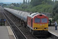 Class 60, 60100 (mike_j's photos) Tags: barnetby class60 60100 ews db tanker signalbox train station nikon track