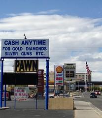 Nevada Culture (Melinda Stuart) Tags: nails commerce border casino cash pawn signs nevada wendover nugget full street shell