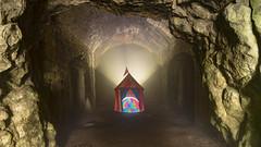 Kiln Camping.  243-366 (FadeToBlackLP) Tags: lightpainting lightart dome tent camping kiln monsal trail monsaltrail lime colourful canon tokina peakdistrict strange surreal weird taken rgb crop wide