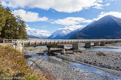 Crossing the River (breakfast_pizzas) Tags: crossing river crossingtheriver newzealand new zealand arthursnationalpark nationalpark arthurs national park bridge southern alps southernalpsnewzealand southernalps rocks water mountains snow snowymountains outdoors canon canon60d canonphotography