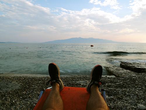 Saranda: Widok na Korfu