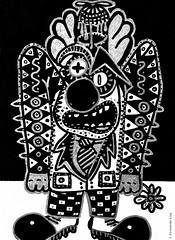 Cor de monstre 05 (Fernando Laq) Tags: monster monstruo monstre dibujo dibuix bn grises