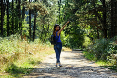 Freedom!!! (XKokmotos) Tags: woman beautiful nature people portrait style wood woods trees pathway autumn epirus greece ioannina 2016 freedom feel free smile nikon nikonphotography xkokphotography d5200